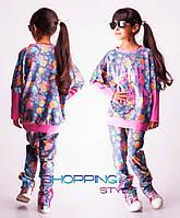 Детский костюм для девочки Name Brand сине-розовый