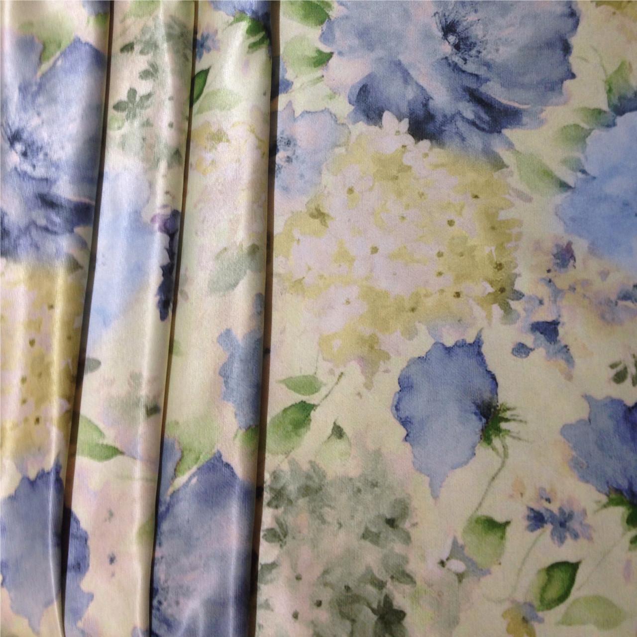 Clande Da 1912 v3 голубые цветы - шёлк