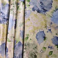 Clande Da 1912 v3 голубые цветы - шёлк, фото 1