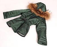 Зимняя куртка (зеленая 110-116см)