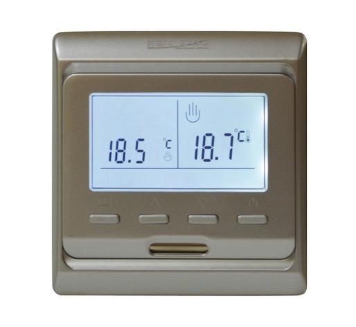 Терморегулятор HEAT PLUS TOP FLOOR M6.716 (программируемый) золото, фото 2
