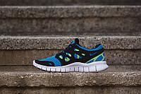 Кроссовки мужские Nike Free Run 2 D600 голубые