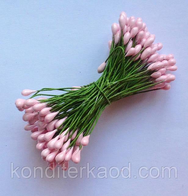 Тычинки глянцевые розовые