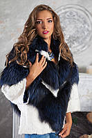 "Шуба полушубок из чернобурки ""София"" silver fox fur coat jacket , фото 1"