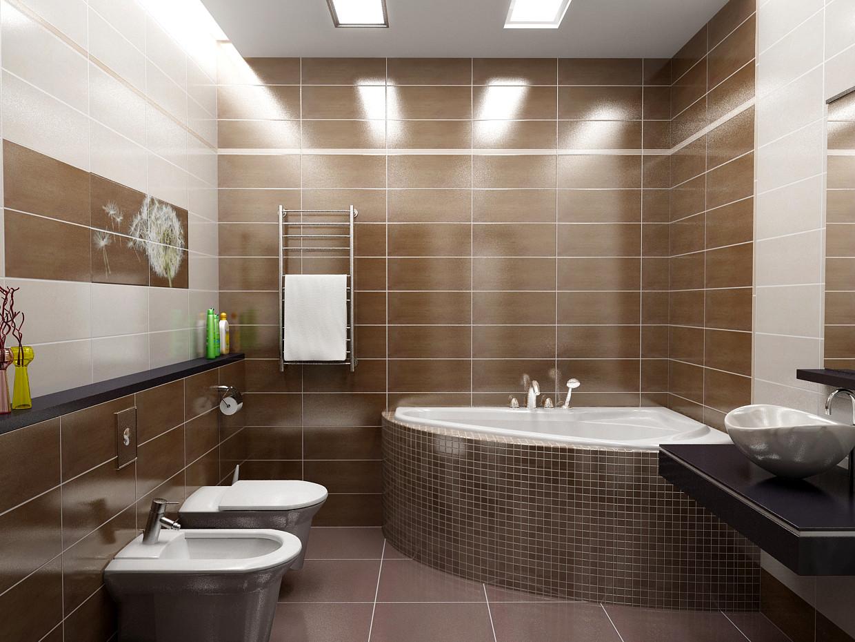 Дизайн - Ремонт. Ванная в коричневых тонах в Харькове.Приватный Курорт.