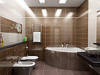 Дизайн - Ремонт. Ванная в коричневых тонах в Харькове.Приватный Курорт., фото 1