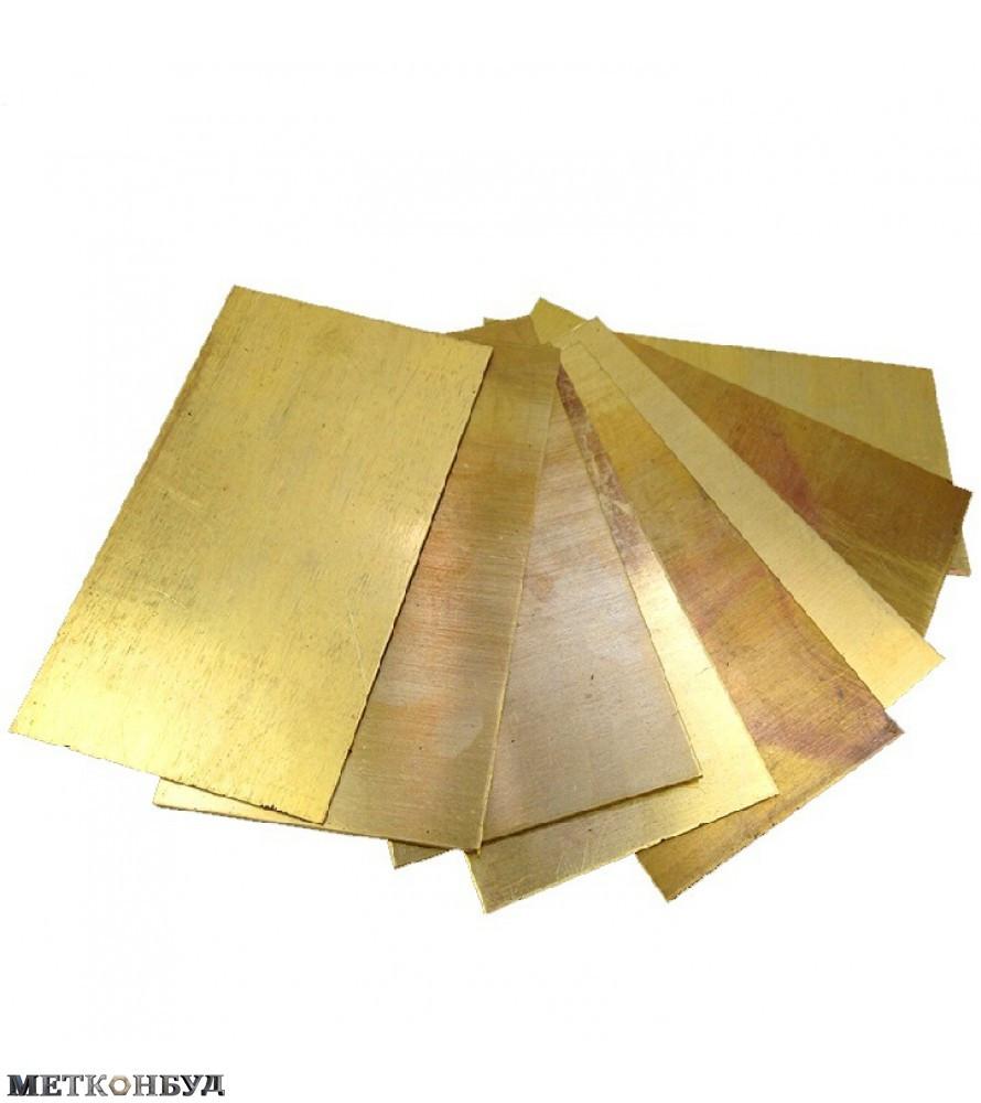 Лист латунь твердый ЛС59-1 1,2х600х1500 мм