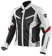 Мотокуртка спортивная Revit GT-R Air серая черная, L