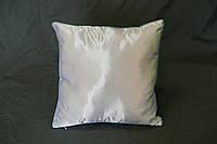 Подушка квадрат кант голубой