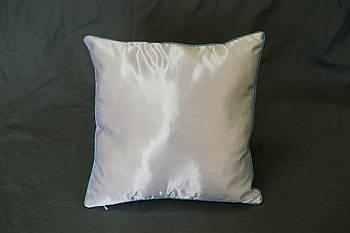 Подушка квадрат кант блакитний