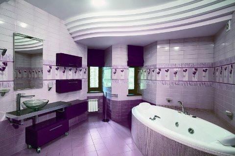 Ванная в фиолетовых тонах