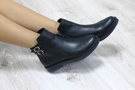 Ботинки кожаные с застежками демисезонные