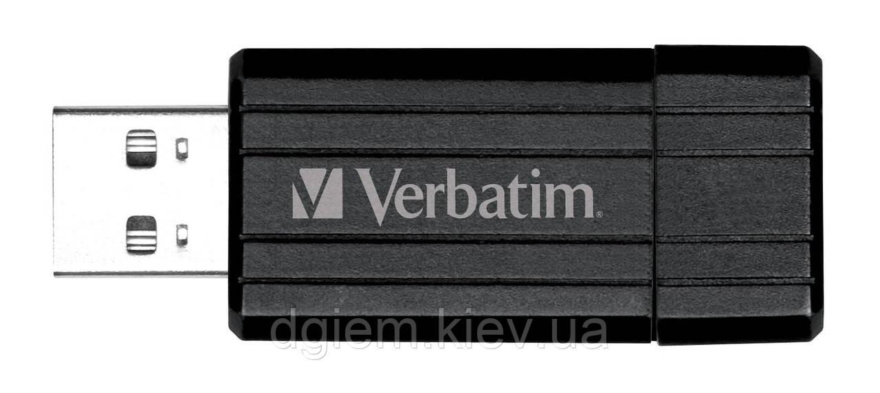 Флеш-память 64Гб VERBATIM USB Drive STORE'N'GO PIN STRIPE BLACK