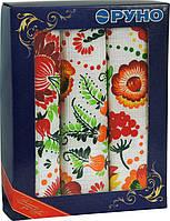 Набор кухонных полотенец Руно в подарочной упаковке Петриковка 35х70 3 шт