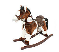Игрушечный конь-качалка с музыкой JR614 Rock my baby