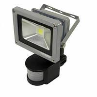 Светодиодный прожектор LEDEX 10Вт сенсор 800лм 6500К холодный белый с датчиком движения120º IP65 TL