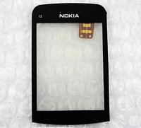 Оригинальный тачскрин / сенсор (сенсорное стекло) для Nokia C2-02 C2-03 C2-06 C2-07 C2-08 (черный, самоклейка)
