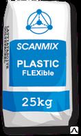 Клей на цементной основе, усиленный волокном SCANMIX PLASTIC flexible / Сканмикс Пластик флексибл (уп. 25 кг)
