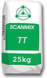 Шпаклевка  стартовая фасадная на цементной основе (усиленная волокном) Сканмикс ТТ / Scanmix TT (25 кг) белый