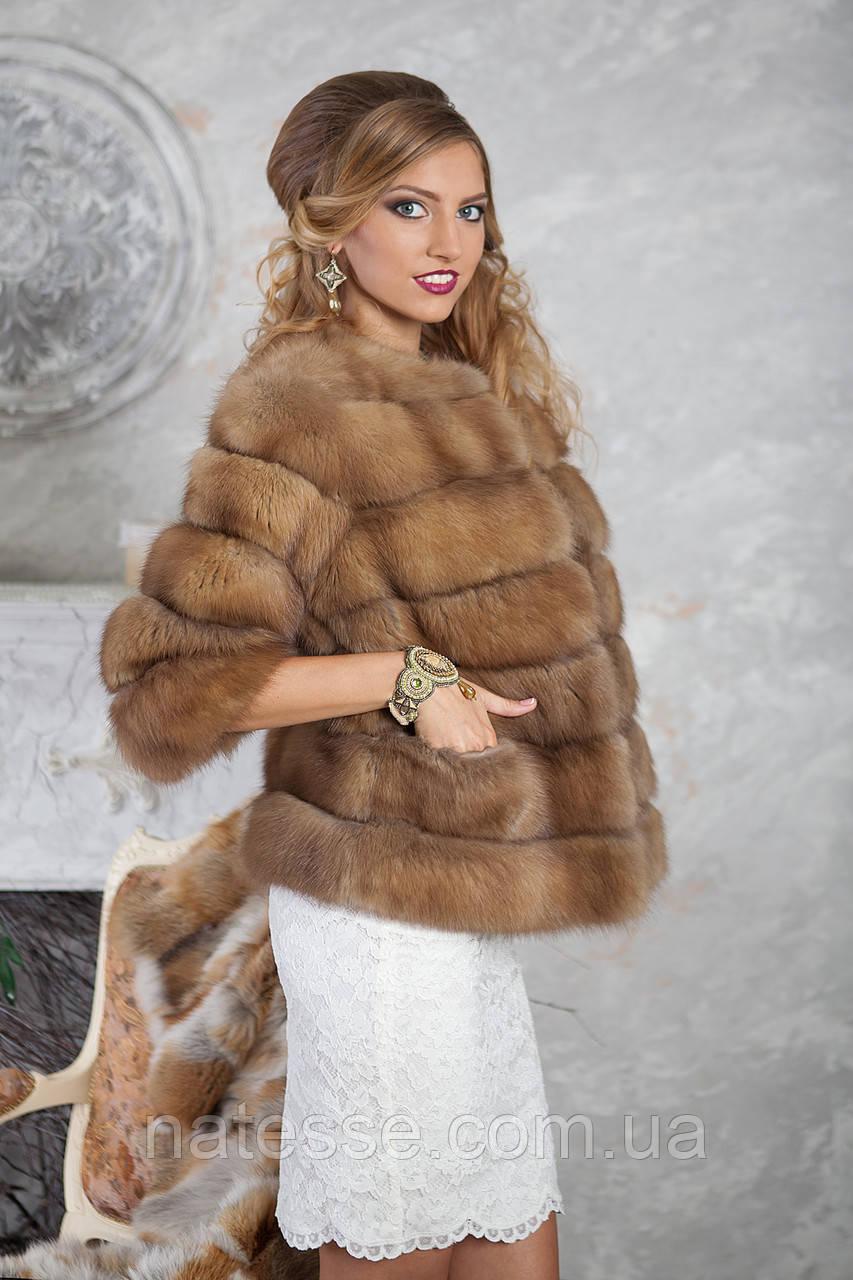 """Полушубок из светлой куницы """"Инга"""" marten fur coat jacket"""
