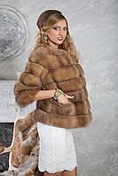 """Полушубок из светлой куницы """"Инга"""" marten fur coat jacket, фото 1"""