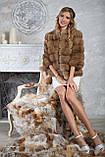 """Полушубок из светлой куницы """"Инга"""" marten fur coat jacket, фото 2"""