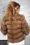 """Полушубок из светлой куницы """"Инга"""" marten fur coat jacket, фото 3"""