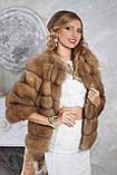 """Полушубок из светлой куницы """"Инга"""" marten fur coat jacket, фото 4"""