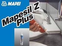 Герметик силиконовый, санитарный Mapesil Z Plus / Мапесил З Плюс (белый, 111, 113, 130, transp.) уп.0.28 л