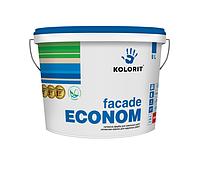 Краска матовая KOLORIT Fasade ECONOM, 10 л (4823046200144)