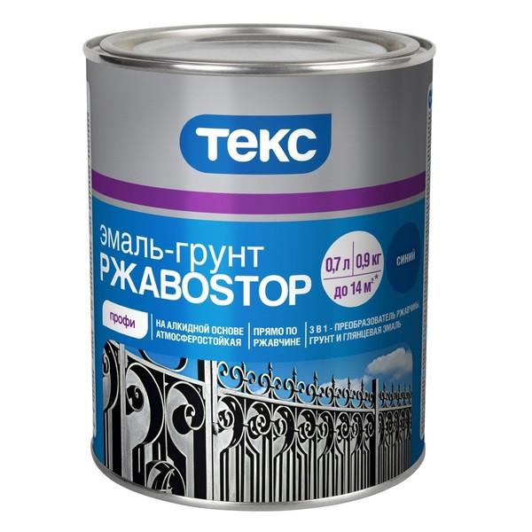 """Эмаль-грунт Текс РжавоSTOP, 0,9 кг (белый)  - Интернет-магазин """"Шелик"""" в Киеве"""
