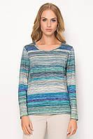 Женская блуза голубого цвета из вискозы. Модель Z24 Sunwear. Коллекция осень-зима 2017.