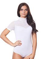 Белое женское боди-футболка (S, L, XL)