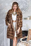 """Шуба полушубок из светлой куницы """"Тина"""" marten fur coat jacket, фото 1"""