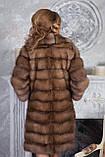 """Шуба полушубок из светлой куницы """"Тина"""" marten fur coat jacket, фото 2"""