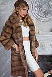 """Шуба полушубок из светлой куницы """"Тина"""" marten fur coat jacket, фото 3"""