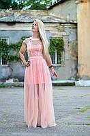 Длинное вечерное платье в стиле