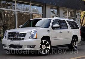 Белый Cadillac Escalade ESV Platinum