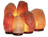 Соляной светильник «Скала» 4-5кг обычная лампочка