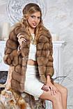 """Шуба полушубок из светлой куницы """"Тина"""" marten fur coat jacket, фото 4"""