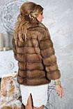 """Шуба полушубок из светлой куницы """"Тина"""" marten fur coat jacket, фото 5"""
