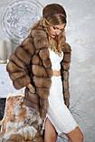 """Шуба полушубок из светлой куницы """"Тина"""" marten fur coat jacket, фото 6"""