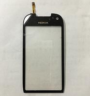 Тачскрин / сенсор (сенсорное стекло) для Nokia C7 C7-00 (черный цвет)
