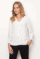 Женская классическая блуза белого цвета. Модель Z46 Sunwear. Коллекция осень-зима 2017.