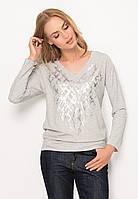 Женская трикотажная кофточка серого цвета с длинным рукавом. Модель Z51 Sunwear. Коллекция осень-зима 2017.