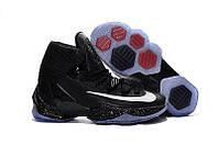 Мужские кроссовки Nike Lebron 13 Elite All Black Рреплика, фото 1
