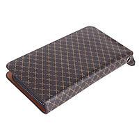 Мужской клатч-портмоне из искусственной кожи коричневый