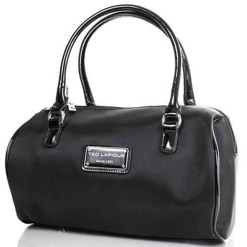 Миниатюрная женская сумка 31,5x24x8 см., ткань Ted Lapidus FRHNY4088E14-2 черный