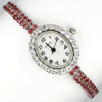 Серебряные Часы с натуральными ТОПАЗАМИ и ГРАНАТАМИ от ювелирного магазина Рубиновая Мечта