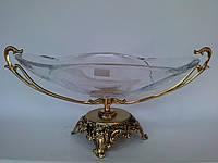 Фруктовница Bohemia на бронзовой ножке, фото 1